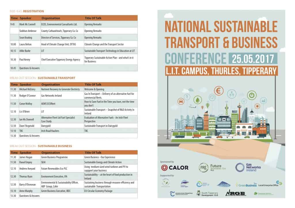 National Sustainable Transport & Business Conference Line up